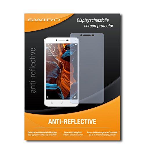 SWIDO Schutzfolie für Lenovo Vibe K5 [2 Stück] Anti-Reflex MATT Entspiegelnd, Hoher Festigkeitgrad, Schutz vor Kratzer/Bildschirmschutz, Bildschirmschutzfolie, Panzerglas-Folie
