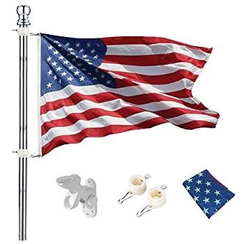 us flag and pole