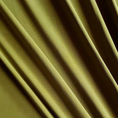 Werthers Stoffe Stoff Baumwolle Meterware Jersey Oliv Schilf Uni Tricot Interlocl stabil Kleiderstoff Hoodies