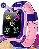 Vannico Reloj Inteligente Niño, Musica Smartwatch Game Watch 1.54 Pantalla Táctil SOS 16 Juegos Cámara Llamada para Niños Niña
