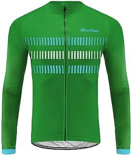 Uglyfrog Winter Fahrradtrikot Langarm Pro T/Thermo Radtrikot/Full Zip/Atmungsaktiv/Winddicht/Reflektoren/Cycling Set