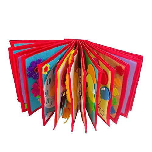 Libro De Cognición Del Bebé,No Tejido, Libro Ilustrado, Manual, Libro Para El Desarrollo Cognitivo De Educación Temprana,Cloth Libro Aprendizaje Y Actividad Juguetes Para Niños