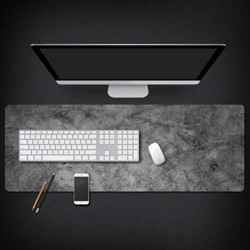 Muiskussen, vers en creatief grijs marmer patroon oversized waterdichte gewatteerde muismat toetsenbord pad meubilair kantoor student tafel mat gift 40x90cm