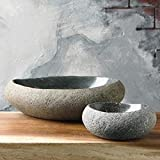"Garden Age Supply River Stone Bowl (6-8"")"