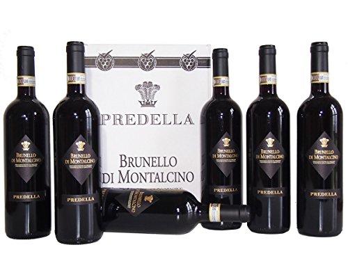 Brunello di Montalcino DOCG Predella Confezione da 6 Bottiglie – Il Migliore Vino della Toscana - cod 240