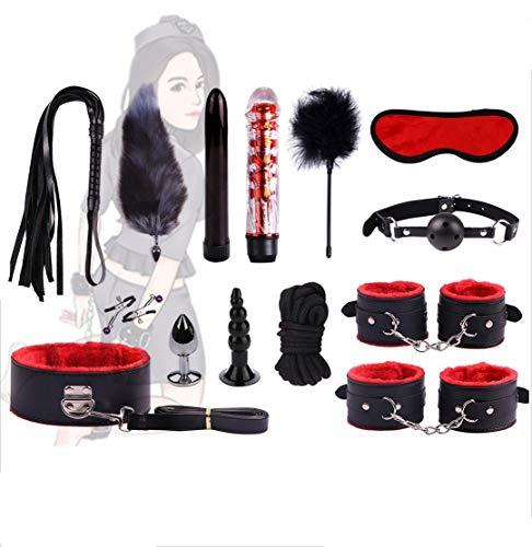 Peluche in pelle regolabile B`D`S`M Set Collana Bracciale giocattolo cavigliera (14 pezzi)