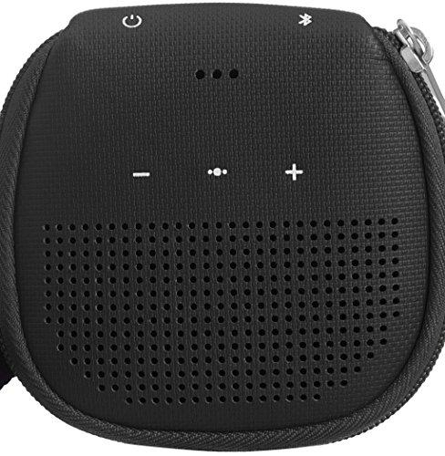 AmazonBasics Speaker Cover with Kickstand (for Bose SoundLink Micro Bluetooth Speaker) - Black
