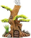 Decoración del Tanque de Peces Simulación Árbol de raíz de Piedra Planta acuática Resina decoración de Acuario para Tanque de Peces