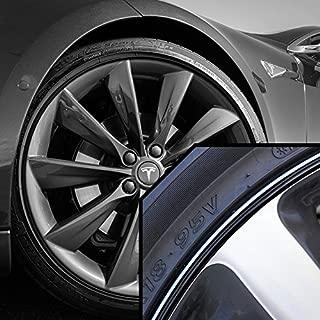 Upgrade Your Auto Wheel Bands Black in Black Pinstripe Rim Edge Trim for Tesla