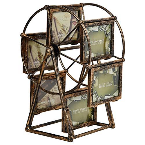 Eksesor Valentinstag Riesenrad Fotorahmen, Retro-Fotorahmen,für Familie, Riesenrad, drehbar, für die Windmühle, als Dekoration oder Geschenk
