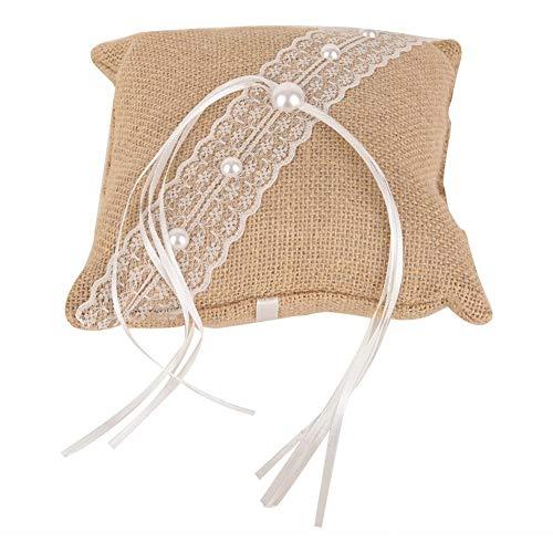 Trouwring kussen handgemaakt kussen met kant decor ring display decoratie 1st 2#