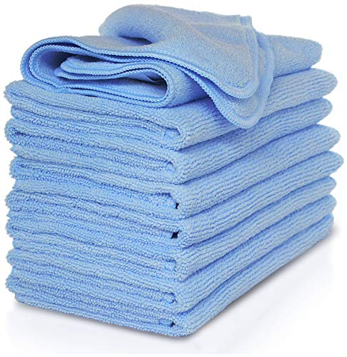VibraWipe Microfiber Cleaning Cloth 8-Pack, Large Size 14.2