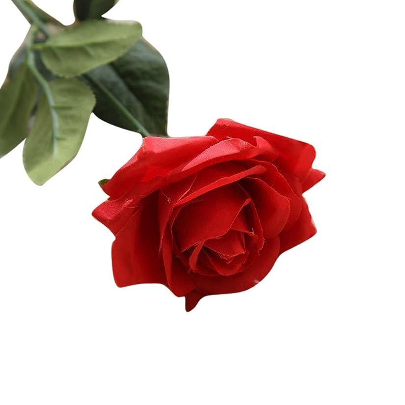 系統的口頭告発Fortan 造花 人工植物 フラワーアレンジメント 告白 花束 ブーケ フラワーアレンジメント 手作り 撮影 インテリア 家庭 パーティ 飾り ギフト 出産祝い 結婚記念日 本物そっくり 生き生き バラ rose 一本 (レッド)