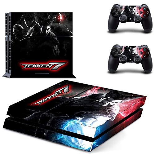 FENGLING Juego Tekken 7 Ps4 Skin Sticker Decal para Sony Playstation 4 Consola y 2 Controladores Ps4 Skin Sticker
