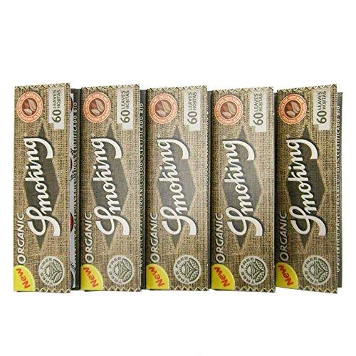 [smoking]スモーキング シングル オーガニックヘンプ ペーパー 60枚入り×5 手巻きタバコ シャグ