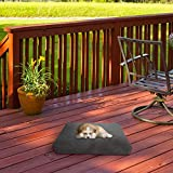 """PETMAKER Waterproof Memory Foam Pet Bed- Indoor/Outdoor Dog Bed with Water Resistant Non-Slip Bottom & Removeable Washable Cover, 20""""X15 (Gray)"""