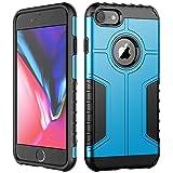 JETech Funda iPhone 8 y iPhone 7, Carcasa Protectora de Doble Capa Absorción de Choque (Azul)