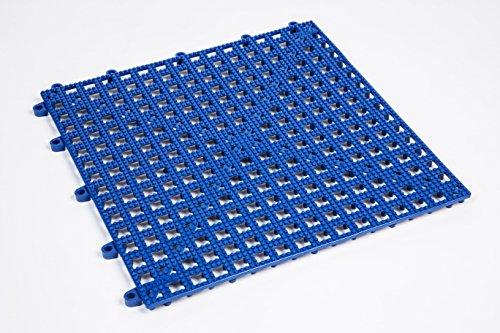 Dri-Dek Marine Surface - 1'x1' Interlocking Tiles - Boat Storage Compartment, Anchor Dry Locker Liner & Deck Flooring (Blue, 1'x1' Tiles - 50-Pack)