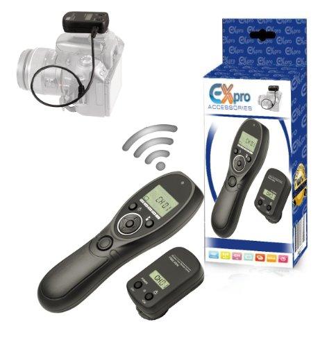 EX-Pro–2,4gHz Wireless-pro mando a distancia con pantalla LCD y temporizador interruptor de control para Fuji S3Pro, S5Pro