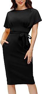 Women's Bodycon Pencil Dress Office Wear to Work Dresses...