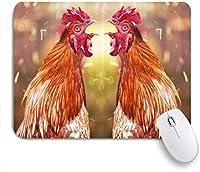 NIESIKKLAマウスパッド コックアニマルチキン闘鶏素朴な農家 ゲーミング オフィス最適 高級感 おしゃれ 防水 耐久性が良い 滑り止めゴム底 ゲーミングなど適用 用ノートブックコンピュータマウスマット