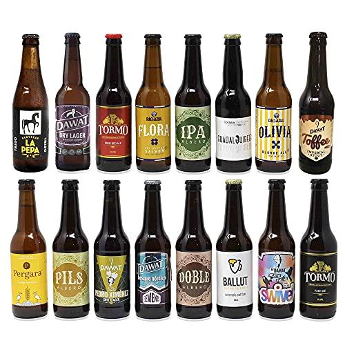 Cervezas artesanas nacionales. 16 botellas x 330ml - 5,28litros. Las...