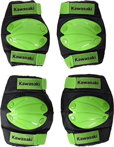 Kawasaki KX100549 - Rodilleras y coderas infantil, color Verde, talla Medium
