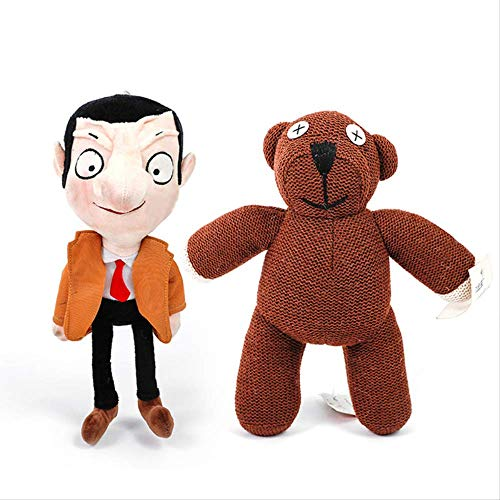 hzwh Juguete De Peluche Suave, 25-30 Cm Mr Bean Teddy Bear Muñeca De Peluche Peluche Juguete De Animales Suaves para Regalo De Niños