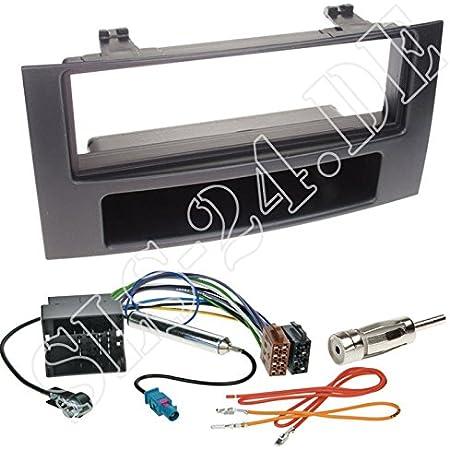 Einbauset Autoradio 1 Din Blende Radioblende Fach Elektronik