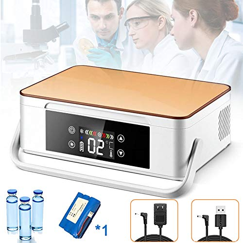 WHR-HARP Nevera Portátil para Medicamento, Enfriador de La Insulina, para Insulina Diabética Refrigerada y Pantalla LCD 2-8 ° C Caja Refrigerada a Temperatura Constante,Onebattery