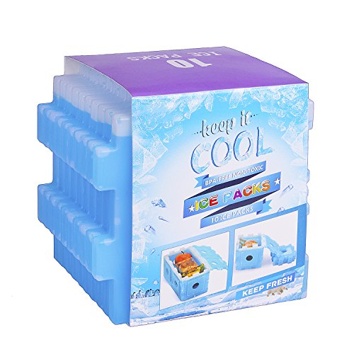 Ice Packs for Lunch Box, Freezer Packs, Reusable...