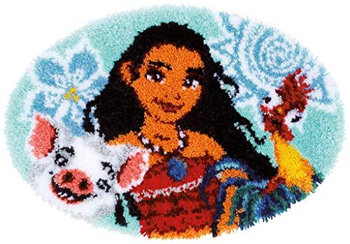 Vervaco PN-0168698 Kit de Crochet de Verrouillage, Tapis, Mélange de Coton, Blanc, 67 x 46 cm