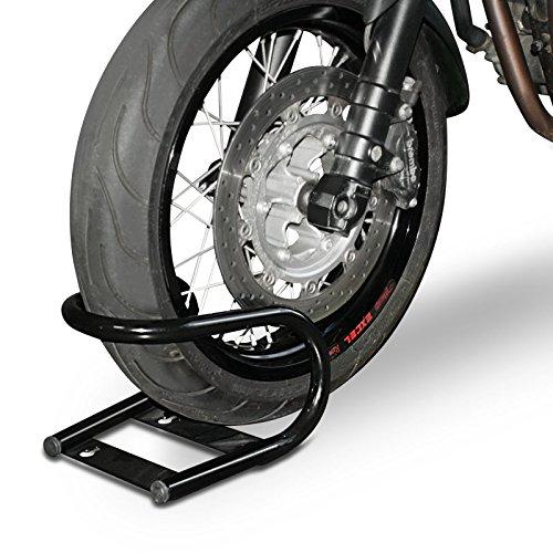 ConStands Easy Classic - Motorrad Transport-Ständer Wippe Haltebügel Vorderrad Montageständer Radklemme Motocross Roller Schwarz