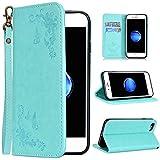 WE LOVE CASE iPhone 7 ケース/iPhone 8 ケース iPhone SE 2 ケース 手帳型 本革 レザー カード収納 ストラップ付き タッチペンケース マグネット式 横置きスタンド機能付き 二つ折り 上品 財布型 カード収納 ローズ 花 アイフォン7ケース /アイフォン8ケース おしゃれ かわいい