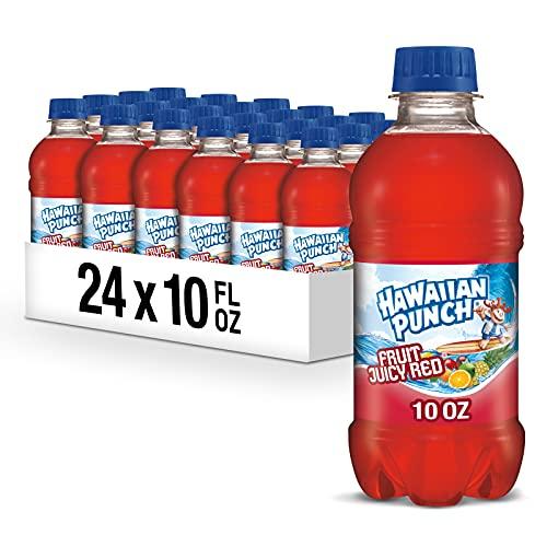 Hawaiian Punch Fruit Juicy Red, 10 fl oz bottles (Pack of 24)