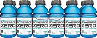 POWERADE ZERO, Zero Calorie Electrolyte Enhanced Sports Drinks, Mixed Berry, 12 fl oz, 12 Pack