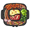DFjTP Korean Square All-in-One Style Hot Pot?Easy to Clean Non Stick Pan, Small Footprint, Durable Household Multifunctional Cooking Tool