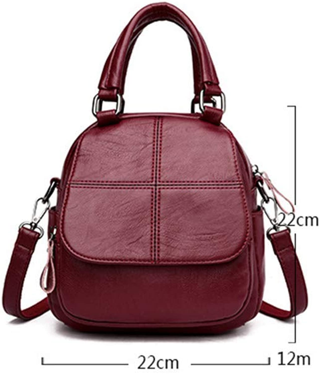 Ladies Handbag Handbag Female Ladies Shoulder Bag Fashion Trend Shoulder Slung Multi-use Handbag (color   A)