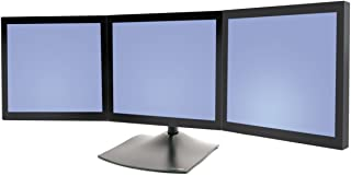 Ergotron, Ds100 Triple-Monitor Desk Stand Stand For Triple Flat Panel Aluminum, Steel Black Screen Size: Up To 21