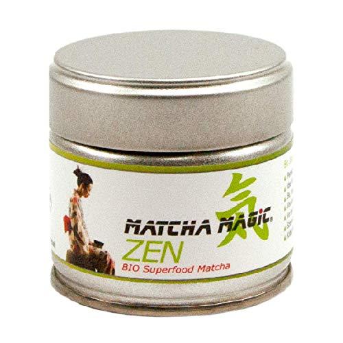 MatchaMagic Zen I Original Bio-Matcha-Tee-Pulver aus Japan - 100% Bio zertifiziert [DE-ÖKO-022] – Ideales Matcha Pulver zum Kochen I Ideales Matcha Pulver zum Backen I Matcha Pulver 30g Bio