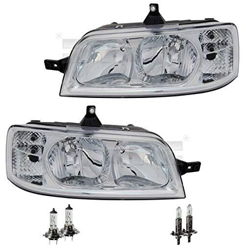 Scheinwerfer Set H1/H7 für Ducato Pritsche/Fahrgestell 244 Z_ inkl. OSRAM Lampen ohne Stellmotor LWR mit Lampenträger LWR