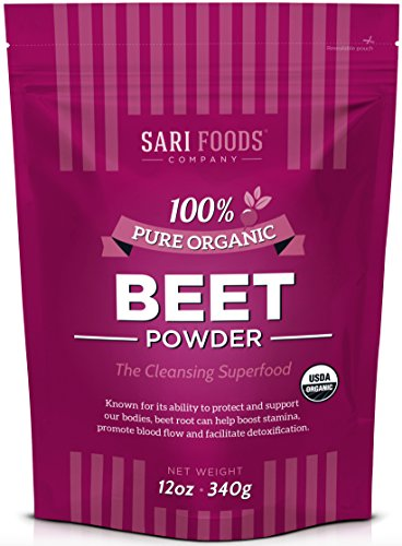 Organic Beet Root Powder (12 Ounce) Natural Plant Based Nitric Oxide Booster, Whole Food Superfood, Vegan & Paleo Friendly