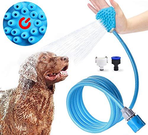 Jasonwell Ducha para mascotas gatos perro mascota baño accesorios multifuncional 3 en 1 pulverizador de…