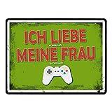 trendaffe - Metallschild mit Zocker Motiv und Spruch: Ich