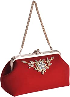 ETH Handbag Red Bride Bag Fashion Evening Bag Chain Bag Married To Mention Opening Double Clutch 27CM * 13CM * 11CM Hand Bag
