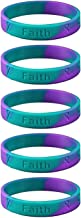 5 Adult Suicide Awareness Teal and Purple Silicone Bracelets - Adult Size Show Your Support 5 Bracelets - Made of 100% high quality silicone