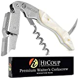 Professional Waiter's Corkscrew by HiCoup – Moonstone Resin Handle...