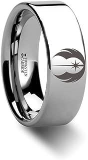 star wars tungsten wedding rings