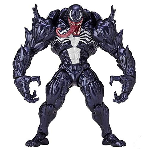 HONGNA Anime Action Figure Model, Spiderman Venom Action Figure Superhero Movie Anime PVC Figure Movable Characters Model Statue Toys Figure Desktop Ornaments