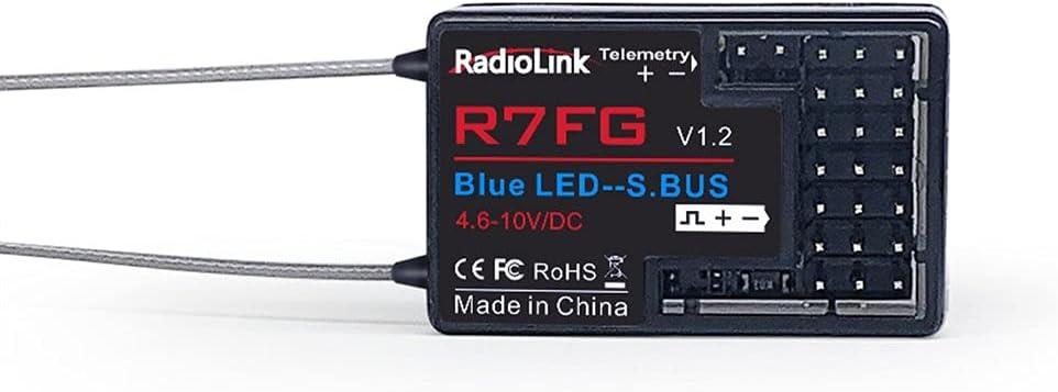 healthwen para R7Fg 7Ch 2,4G Gyro y telemetría de transmisión bidireccional FPV de Largo Alcance Receptor de Coche y Barco para Rc6Gs Rc4Gs T8S T8Fb